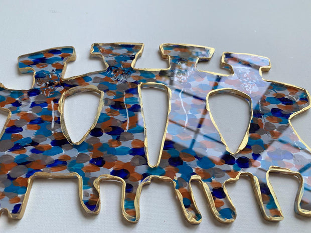 Mosaic Blue and Orange Dancers