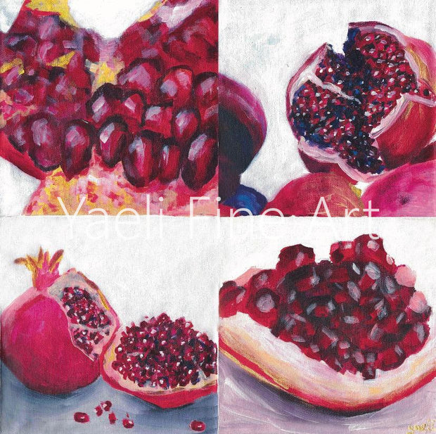 Sukkah Prints - Pomegranate Richness - Artwork for your Sukkah