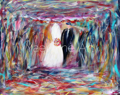 The Colorful Chuppah (SOLD) - Judaic Art