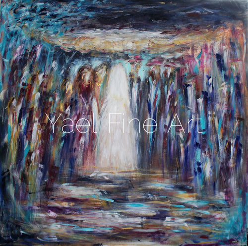 The Golden Canopy (SOLD) - Judaic Art