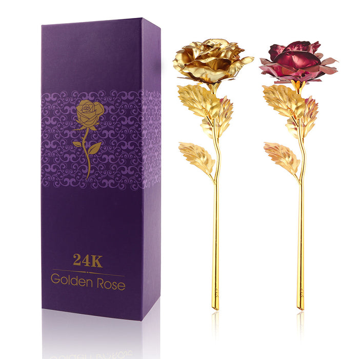 24K Foil Plated Golden Rose - Veerve