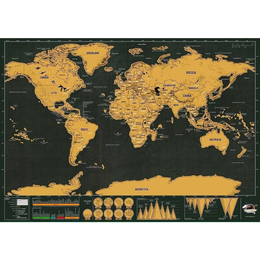 Scratch Off World Map - Veerve