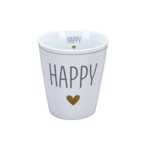 Becher GOLD HEART HAPPY