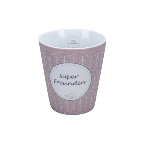 Becher SUPERFREUNDIN, rose
