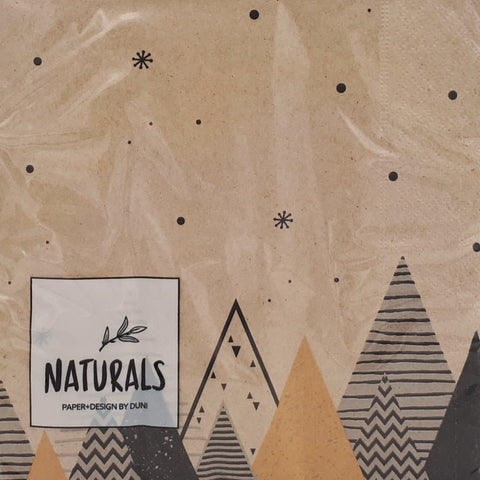 Serviette *GRAPHIC TREES*, groß/ Naturals