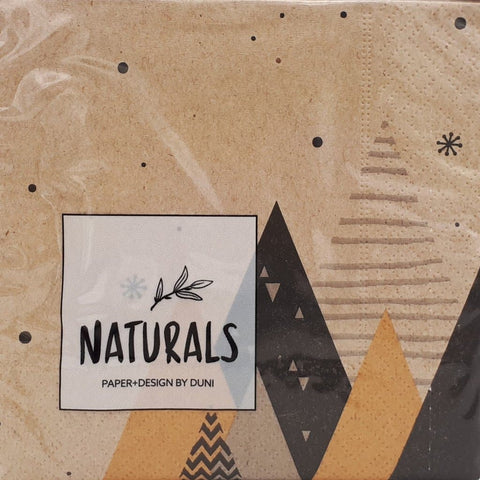 Serviette *GRAPHIC TREES*, klein/ Naturals