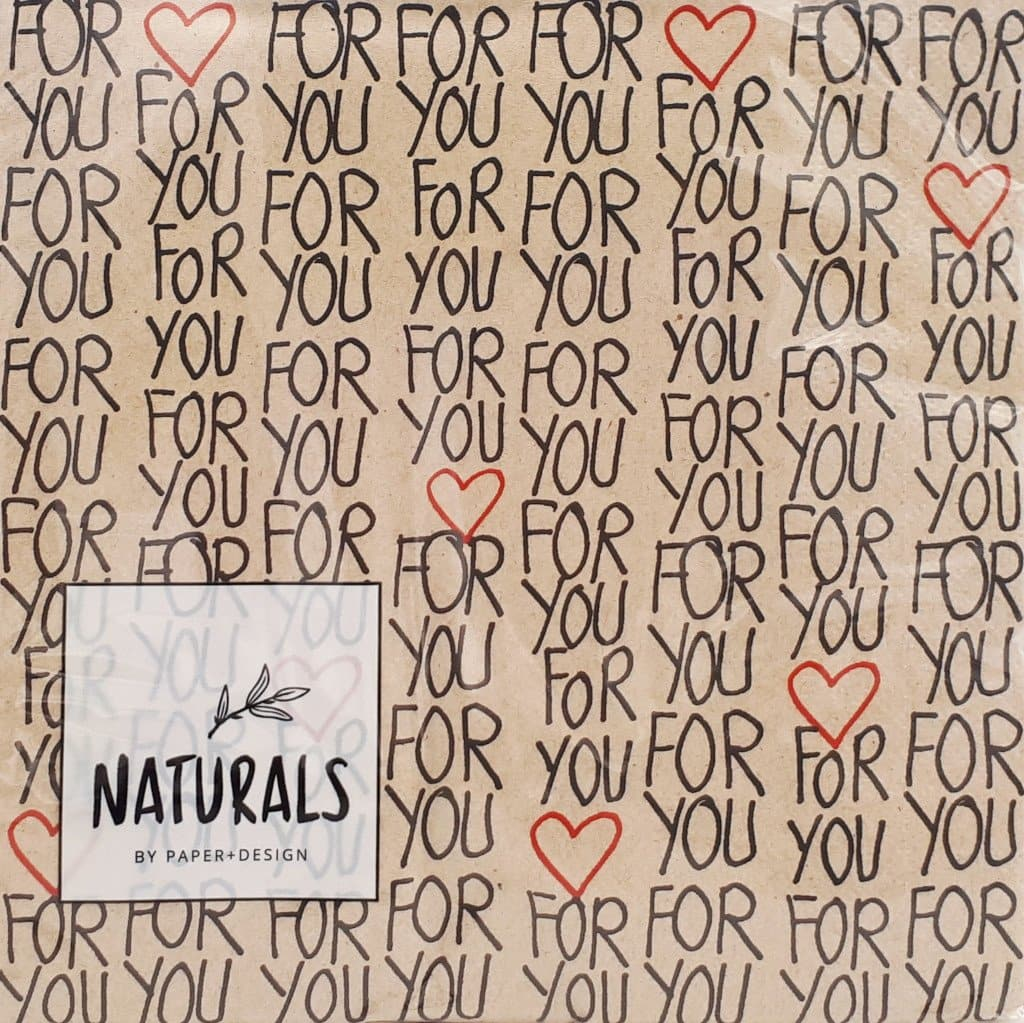 Serviette *FOR YOU*, Naturals
