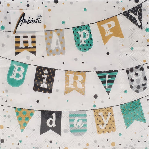 Serviette *HAPPY BIRTHDAY* Girlande