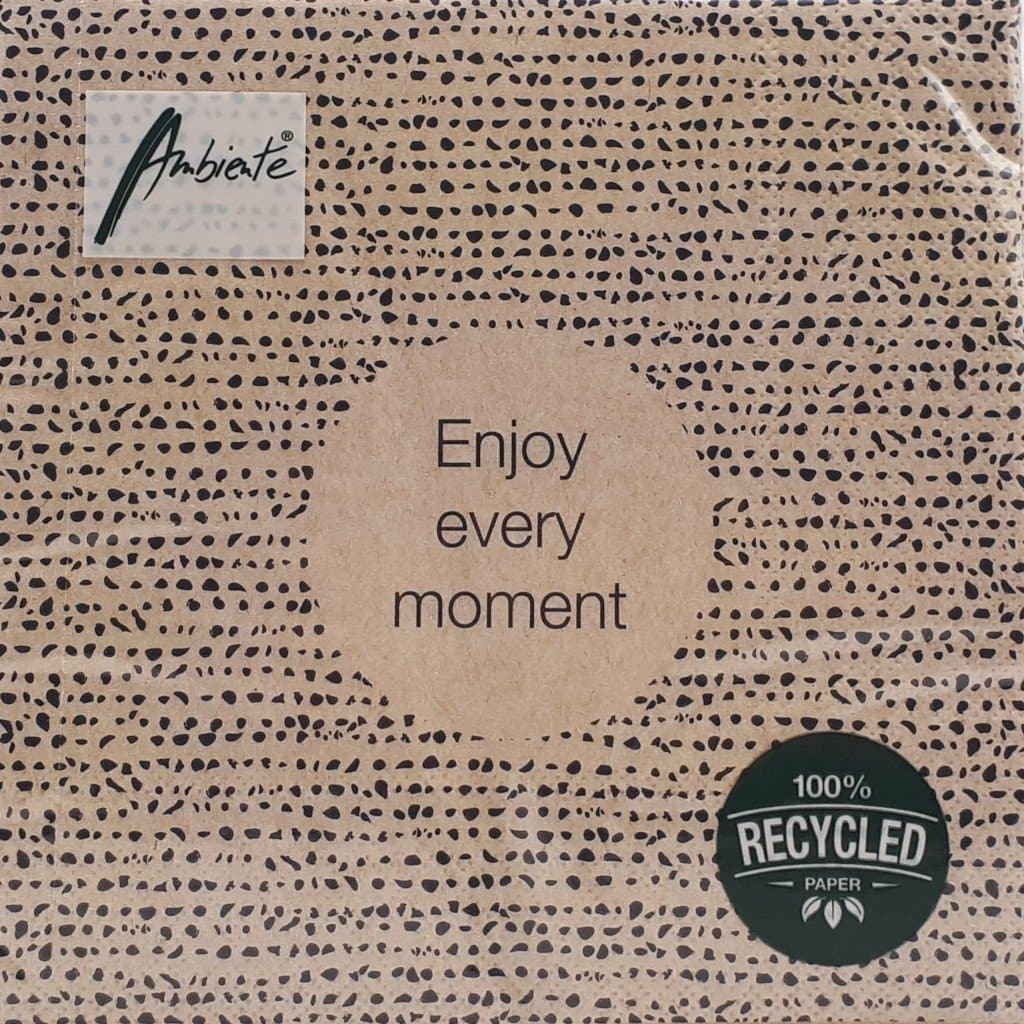 Serviette *ENJOY EVERY MOMENT*, recycled