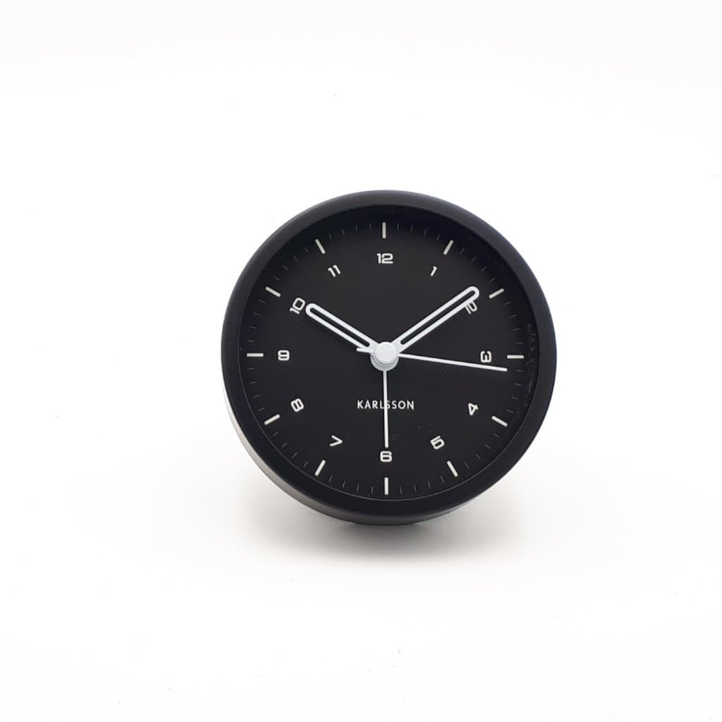 Alarm Clock Tinge, steel black