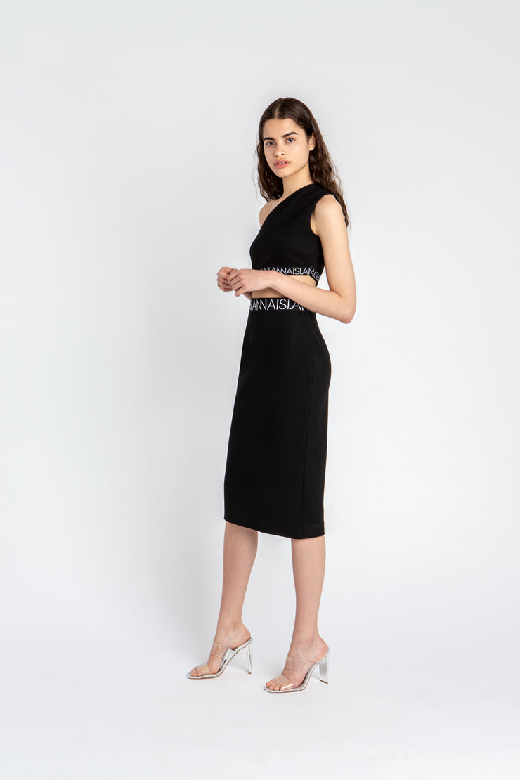 Interlock One-Shoulder Dress