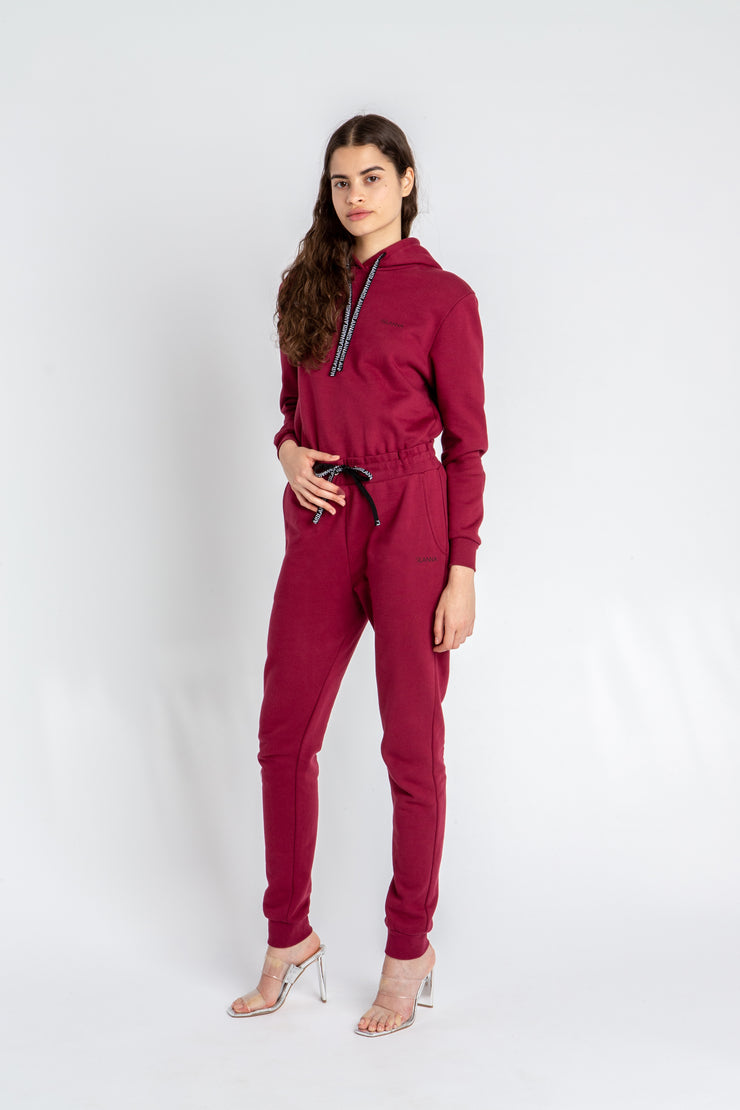 Track Trousers Burgundy