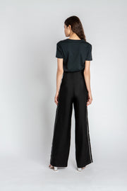 High-Waist Silk Trousers