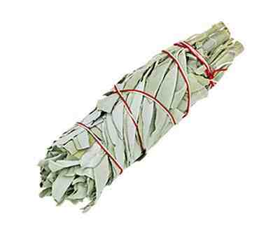 "California White Sage Smudge Stick - 6""L - Earth Energy & Company"