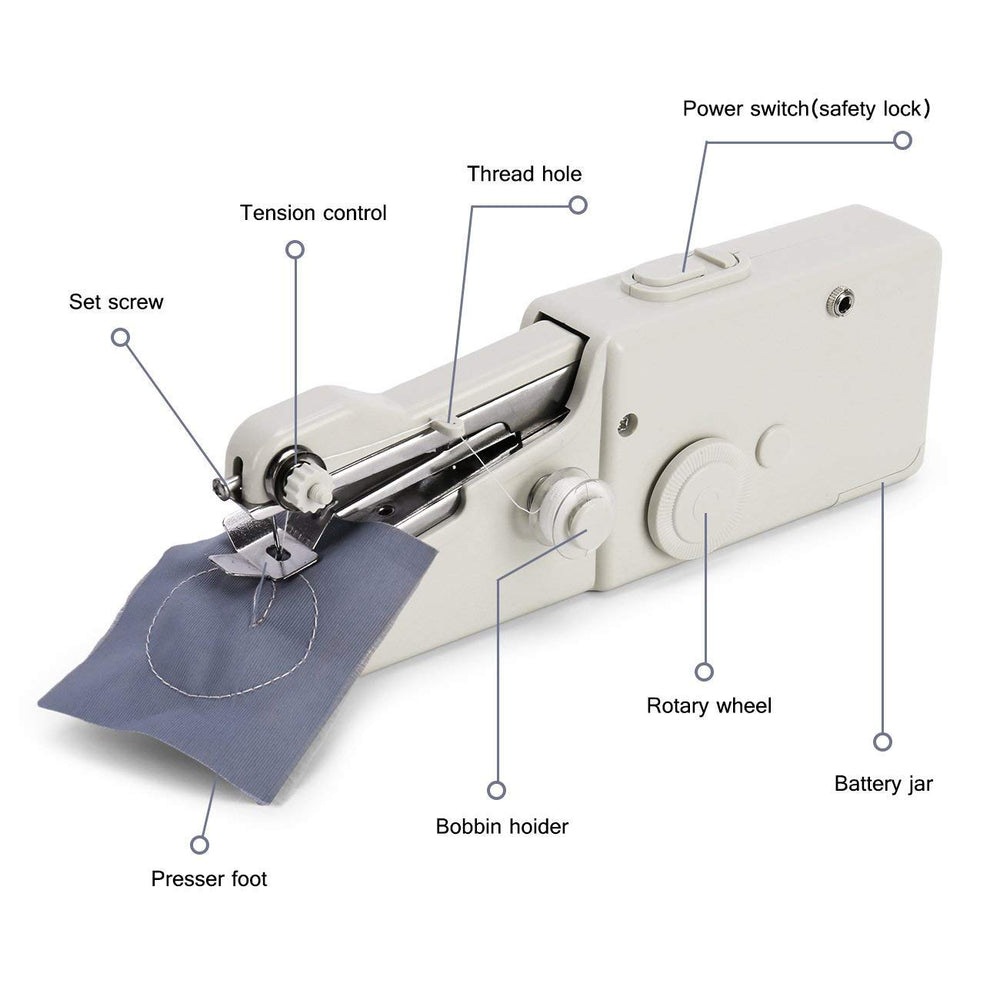 Handheld Sewing Machine, Mini Cordless Handheld Electric Sewing Machine, Quick Handy Stitch for Fabric