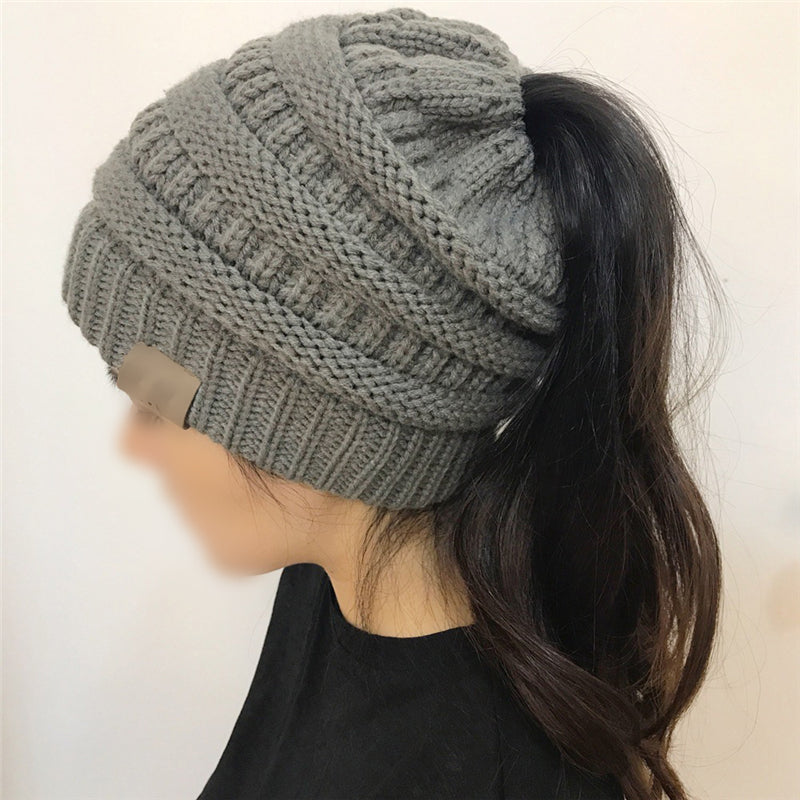 Casual Ladies Pure Knitting Wool Hat