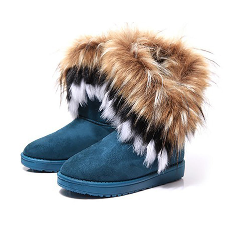 Daily Life Low Heel Fur Boots