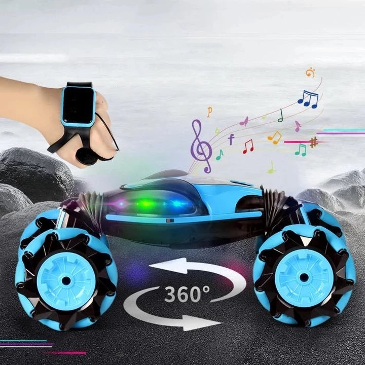 (CHRISTMAS LIMITED TIME )GESTURE CONTROL - DOUBLE-SIDED STUNT CAR