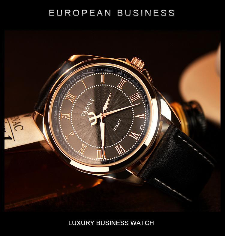 Quartz Watch, Roman Numerals, Business Style