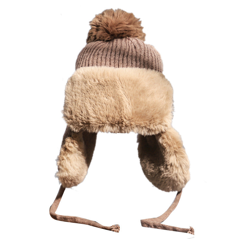 Cute wild warm wool knitted hat