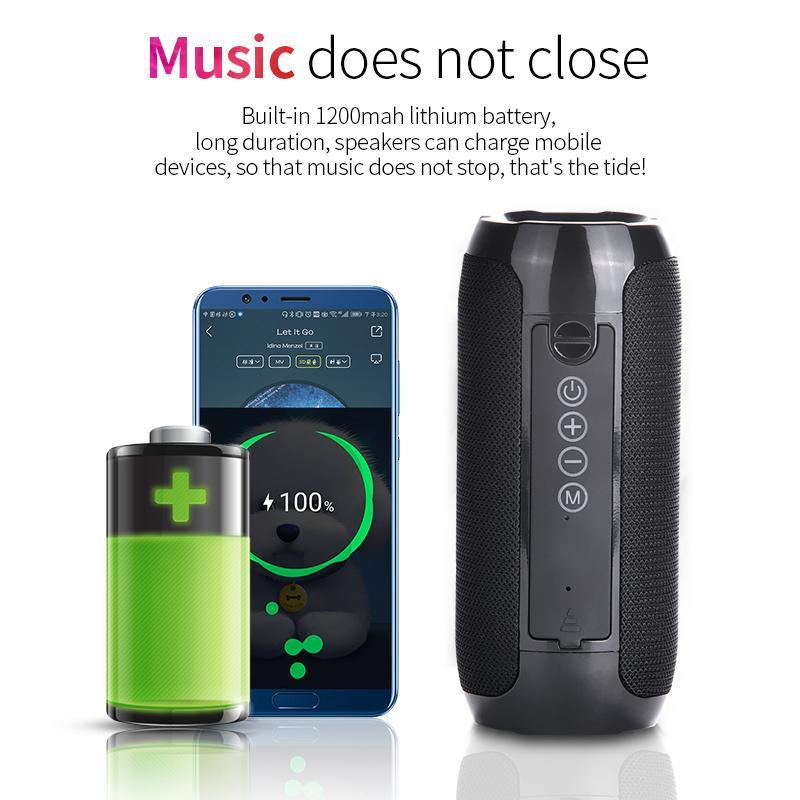 Portable Powerful Bass Waterproof Bluetooth Speaker