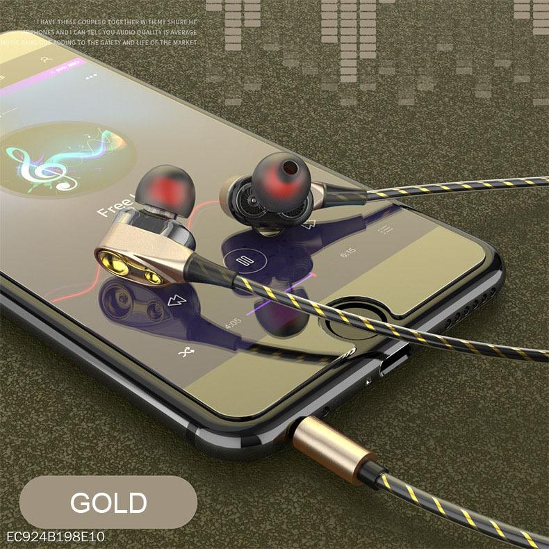 In-Ear Headphones Dual Speakers