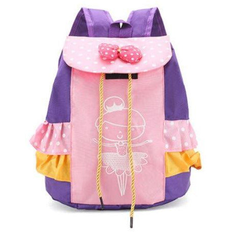 Ballerina Purple and Yellow Ruffle Backpack