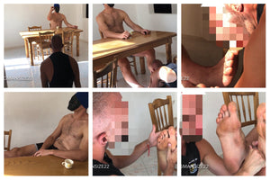 NEW: Slave at Bigman's feet in the kitchen. Part 2