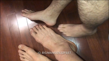 Load image into Gallery viewer, Jandro comparing feet in my hotel Room