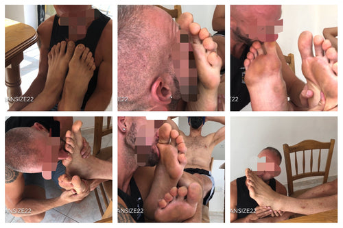 NEW: Slave at Bigman's feet in the kitchen. Part 3