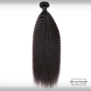 Kinky Straight Virgin Hair Bundles | 3.0 oz Bundles | Refined Collection