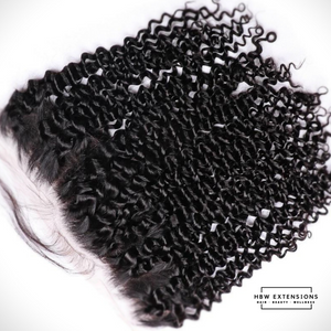 13 X 4  Kinky Curly Swiss Lace Frontal