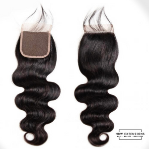 4 x 4 Straight / Loose Body Wave Swiss Lace Closure