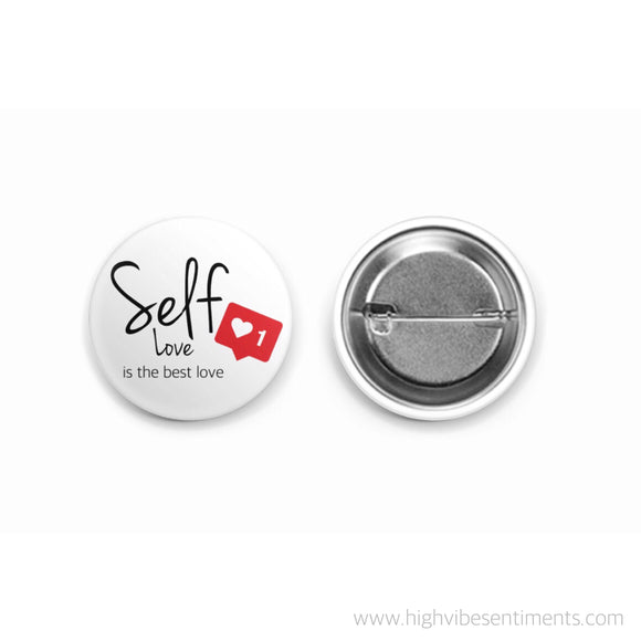High Vibe Sentiments affirmation button badge