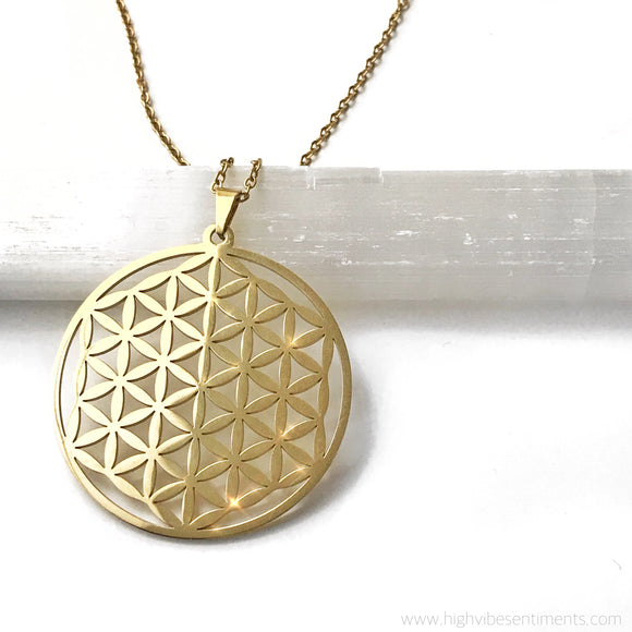High Vibe Sentiments, Flower Of Life Necklace