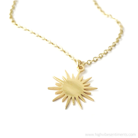 High Vibe Sentiments, Sunburst Necklace