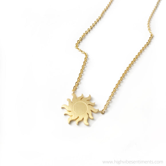 High Vibe Sentiments, Vibrant Sun Necklace