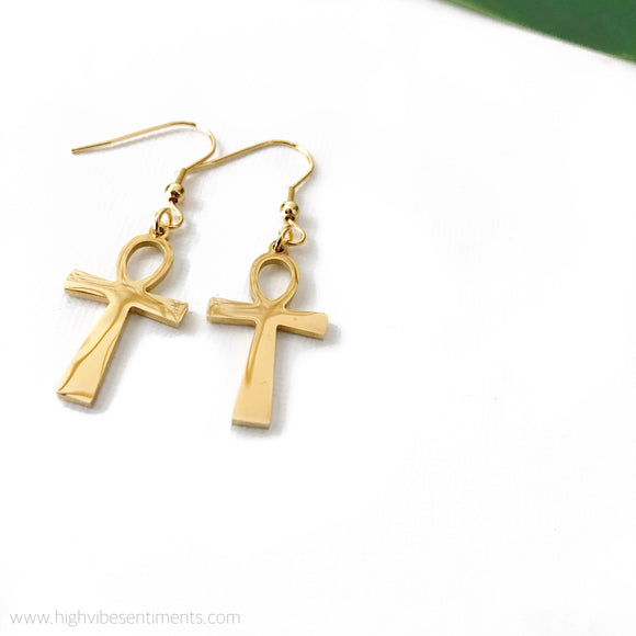 High Vibe Sentiments Ankh Dangles