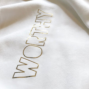 Worthy Tee (gold font)