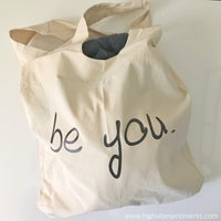 High Vibe Sentiments, Boho Tote