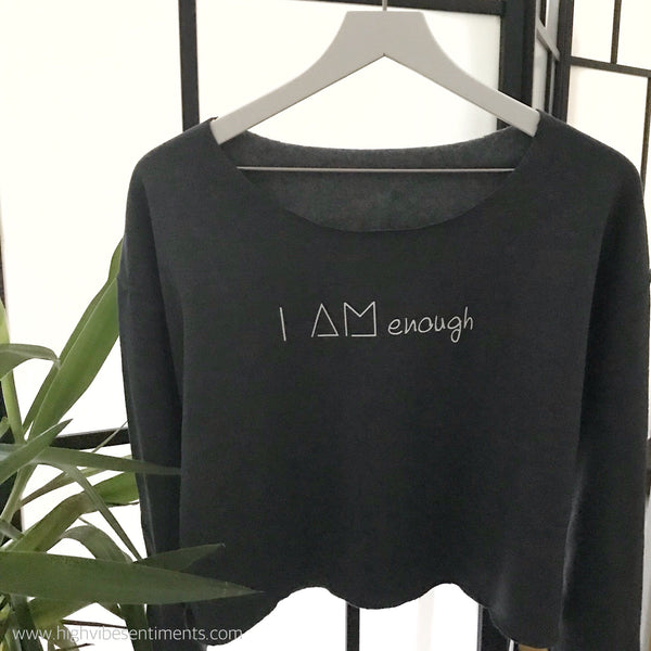 High Vibe Sentiments, Cropped Affirmation Sweatshirt