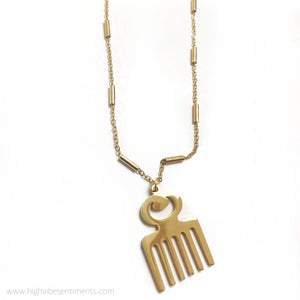 High Vibe Sentiments Duafe Necklace