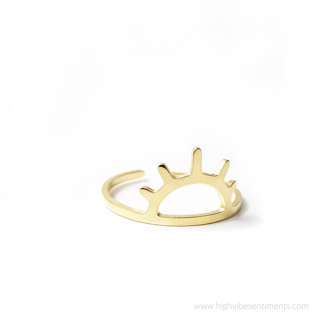 High Vibe Sentiments, Rise & Shine open ring