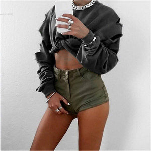 Slitted Long Sleeve Top