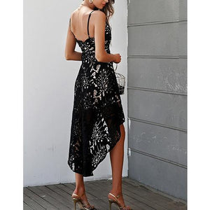 Backless Lace Long Dress