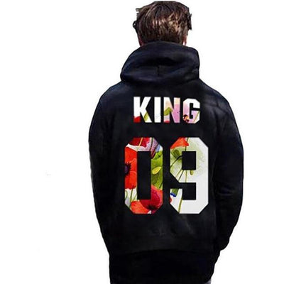 King and Queen Rose Hoodies