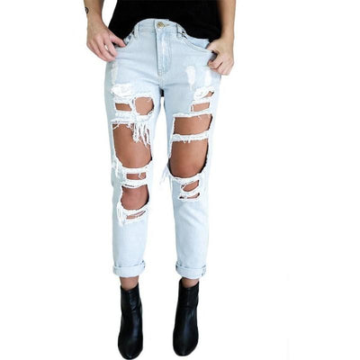 Over Ripped Denim Jeans