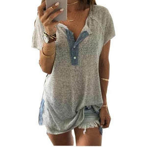 Casual Split Button Up Tee