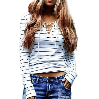 Long Sleeve Stringed Cozy Top