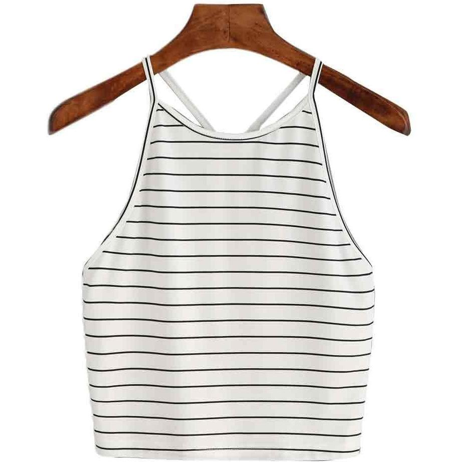 Simple Striped O-Neck Top